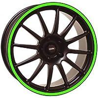 3MTM Moto-Bandas adhesivas de círculos 3MTMfluorescenti stripe for wheel rojo amarillo o verde verde
