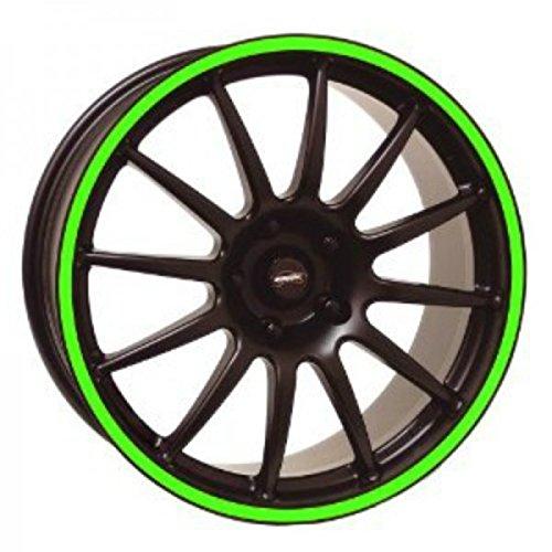 3M-Tiras adhesivas circulares para rueda de moto, cuatro colores Verde