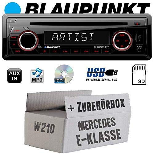 Mercedes E-Klasse W210 - Autoradio Radio Blaupunkt Alicante 170 - CD/MP3/USB - Einbauzubehör - Einbauset