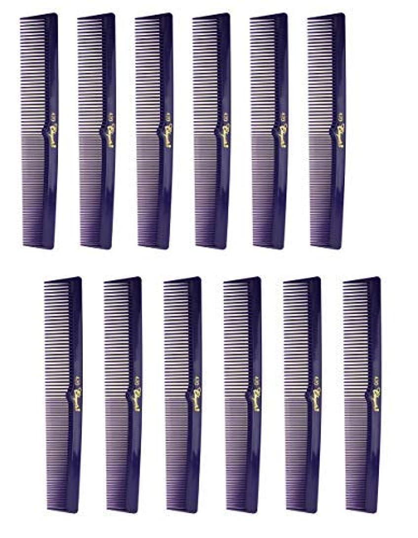 無力クリーナーミシン目7 Inch Hair Cutting Combs. Barber's & Hairstylist Combs. Purple 1 DZ. [並行輸入品]