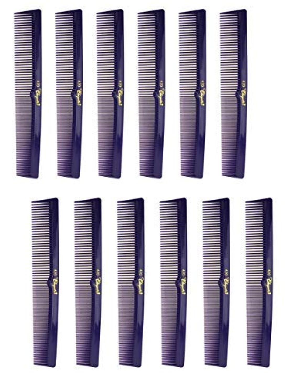熱心望み師匠7 Inch Hair Cutting Combs. Barber's & Hairstylist Combs. Purple 1 DZ. [並行輸入品]