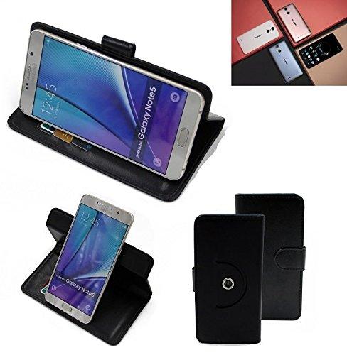 K-S-Trade® Hülle Schutz Hülle Für Ulefone Vienna Handyhülle Flipcase Smartphone Cover Handy Schutz Tasche Bookstyle Walletcase Schwarz (1x)