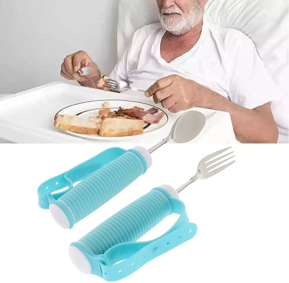 Super sale period limited DPLCC Elderly Eating Aids Stainless Rotating New York Mall Tableware 360°