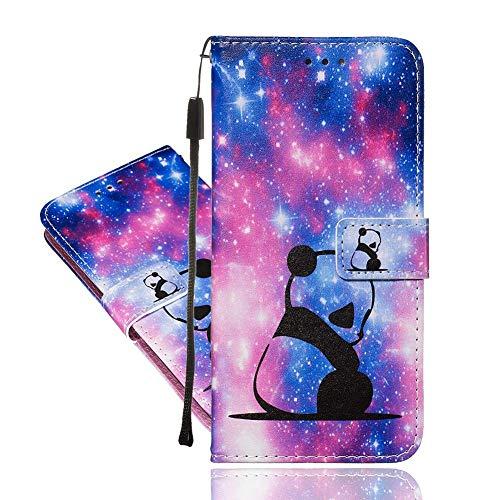 IMEIKONST Hülle Kompatibel Mit Samsung Galaxy A32 5G, Flip Brieftasche Leichtes Tasche Premium Leder Handyhülle mit Magnetverschluss Schutzhülle für Galaxy A32 5G. Star Panda YB