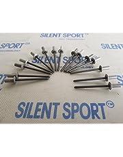 Gasdichte speciale klinknagels/blindklinknagels voor geluiddemper/uitlaat, 15 stuks.
