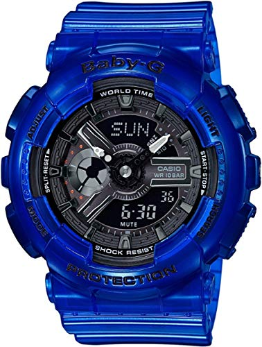Baby-G Damen Analog-Digital Quarz Uhr mit Harz Armband BA-110CR-2AER
