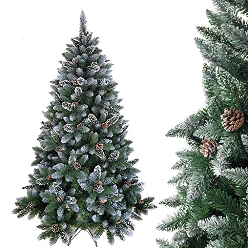 GJXJY Artificial Christmas Tree with Stand Christmas Ornaments Decorations Flake Christmas Tree with Pine Cones and Snowflake for Outdoor Indoor Decor,Easy Assembly120cm/4ft