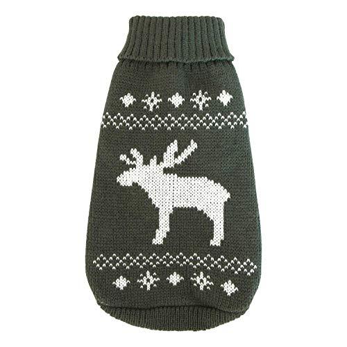 Wolters Strickpullover für Hunde, grau-weiß, 30 cm