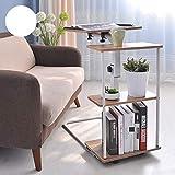 Wwwwwwxw Klapptisch Multifunktions-Computertisch, U-förmig, abnehmbar mit 3-lagigem Lagerregal, Hubtisch, Schreibtisch 360 ° drehbar
