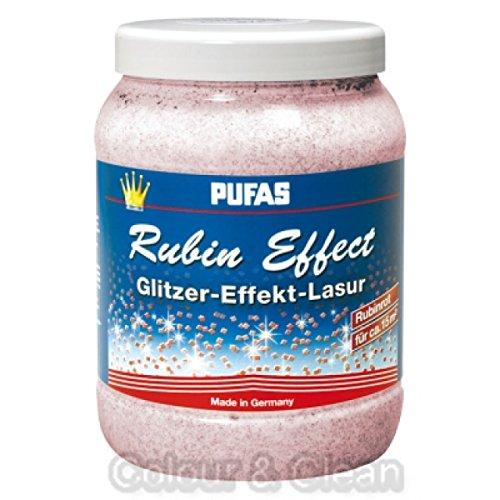 Pufas Rubin Effect Lasur Effektlasur 1,5 L extrafeiner rötlicher Glitzer-Effekt