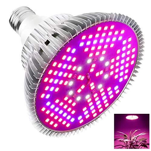 Ashmita Lampade per Piante Crescita, 100W E27 LED Pannello Spettro Completo Pianta Coltiva la Lampada Luce Crescente per Interni per Serra Idroponica Verdure in Vaso Fiore