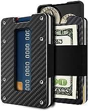 Minimalist Carbon Fiber Slim Wallet for Men & Women Slim Front Pocket Wallet & Credit Card Holder RFID Blocking - 2018 New