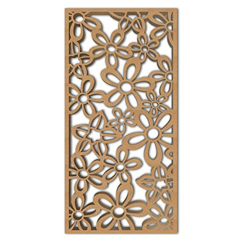 Review NISH! 'Deco Panel' | Use asRoom Partition, Screen, Divider, Wall Art, Hanging, Door (MDF Wood – 12mm Thick, 4ft x 8ft, Natural Color) for Living Room, Kitchen Cabinet, Cupboards, Furniture