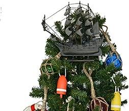 Flying Dutchman Model Pirate Ship Christmas Tree Topper Decoration - Nautical C