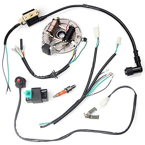 MOTOLIMO Bobina CDI 495023 del telar de cableado del arnés de cables para 50-125cc Kick Start Dirt Pit Bike
