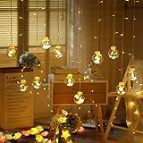 The Purple Tree Decorative Wish Ball Orbs LED Curtain Lights for Diwali Christmas Wedding, Window, Festive, 2.5 m, Globe Curtain Lights (Pack of 1) Warm White Light, Diwali Decoration Light