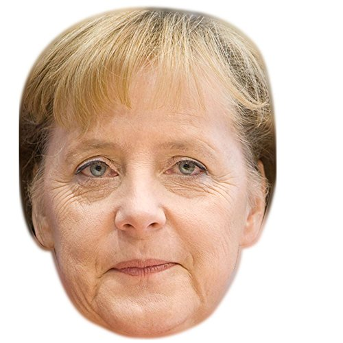 Celebrity Cutouts Angela Merkel Maske aus Karton