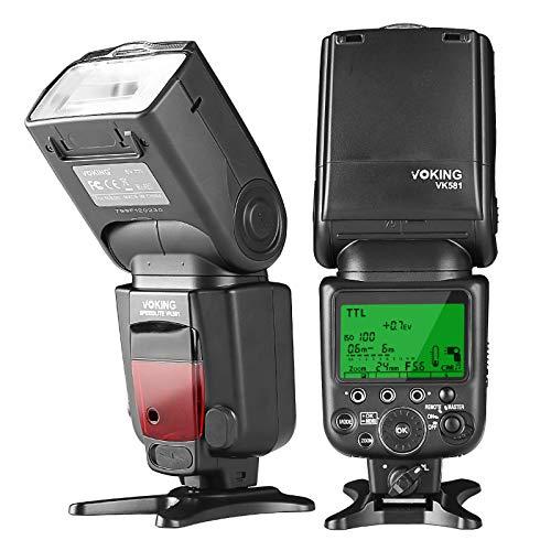 Voking VK581N TTL High Speed Sync Master Camera Flash Speedlite Compatible with Nikon D70 D90 D300 D600 D3000 D5200 D7000 D7100,etc