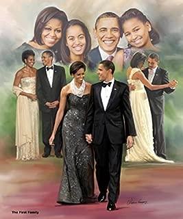 The First Family: Barack, Michelle, Malia and Natasha Obama by Wishum Gregory (Unframed Art Print - 24x20 inches)