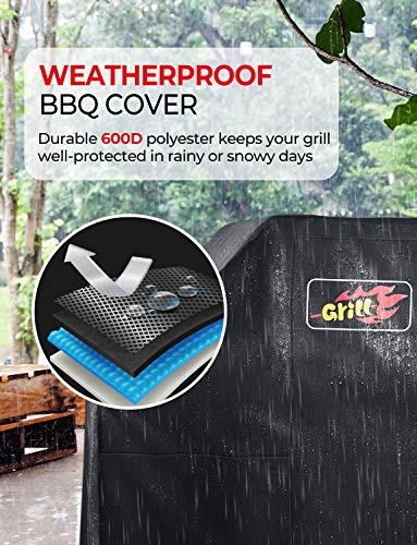 VicTsing 600D 72-Inch Heavy Duty Waterproof BBQ Grill Cover