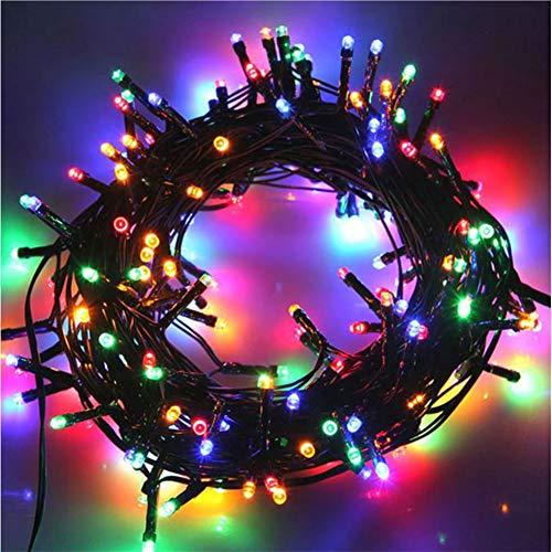 MOMEX 300 LED 21 M Weihnachtsbaum Lichterkette Außen und Innen Lichterkette 8 Modi Lichterkette für Außen Garten Haus Hochzeit Weihnachten (Mehrfarbig, 300 LEDs)