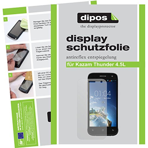 dipos I 2X Schutzfolie matt kompatibel mit Kazam Th&er 4.5 L Folie Bildschirmschutzfolie