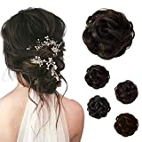 Beauty Angelbella Hair Bun Extension Synthetic Ponytail Wavy Curly Messy Hair Pieces Hairpiece