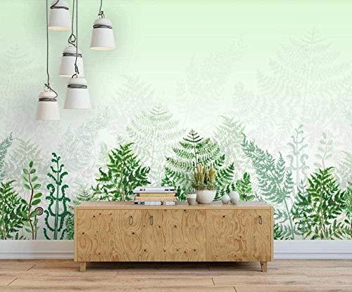 Papel pintado verde natural, fresco y hermoso, papel tapiz no tejido, efecto 3D, mural, decoración de pared, Pared Pintado Papel tapiz 3D Decoración dormitorio Fotomural sala sofá mural-430cm×300cm