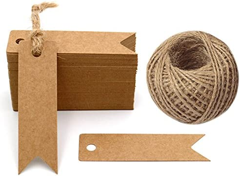 G2PLUS 100 PCS Kraft Paper Max 49% OFF Tags Mini with Craft String outlet Gift