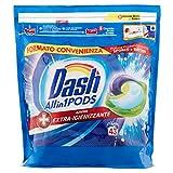 Dash Pods Allin1 + acción extra higienizante Pods para colada, 43 lavados, limpieza profunda contra la suciedad y las bacterias
