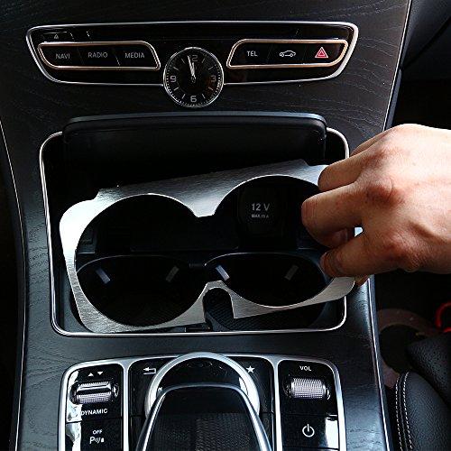 Cadre en alliage d'aluminium pour porte-gobelet pour Mercedes Classe C W205, GLC X253, Class E W213 - Accessoires de voiture