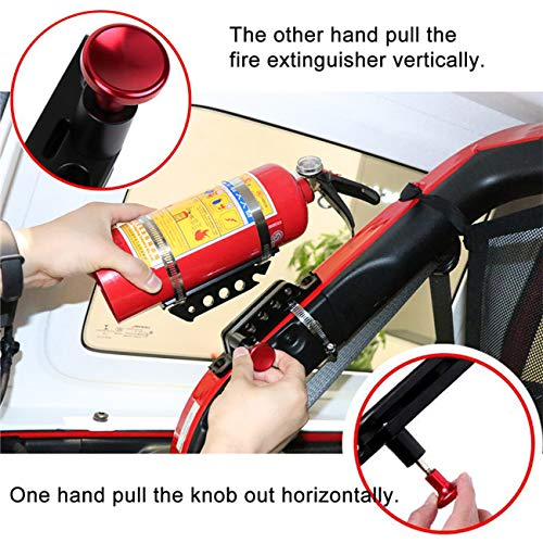 Vehicle Universal Roll Bar Bottle / Fire Extinguisher Holder Mount,Adjustable, Aluminum