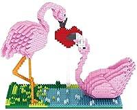 Mopoq DIY・ビルディング・ブロックは、小粒子がブロックビルディングブロックフラミンゴホリデーギフト手作りDIYバレンタインデーのGIFスペルマイクロドリルスペル