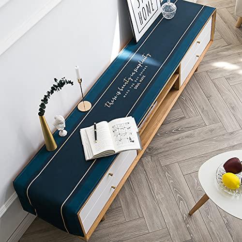 QMZ Camino de Mesa Nórdico Simple algodón y Tela de Lino Arte TV gabinete Mantel hogar Rectangular Escritorio Mantel Camino de Mesa cómoda Cubierta de Tela