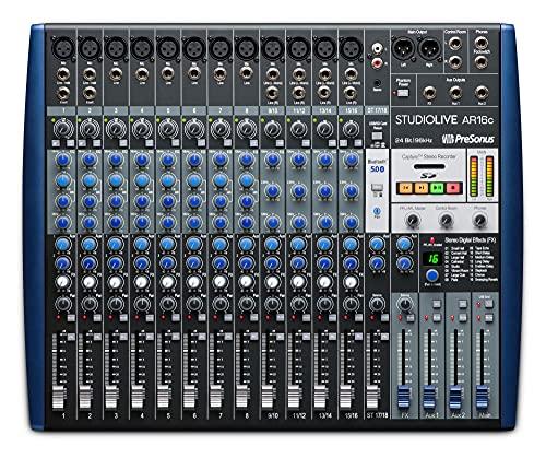 StudioLive AR16c Interfaz de audio/Mezclador analógico/Grabadora SD...