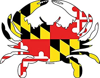 HZ Graphics Maryland Flag Crab Vinyl Decal Wall Laptop Bumper Sticker 5