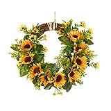SANGDA ghirlanda di girasole artificiale, ghirlanda di fiori finti per porte anteriori e p...