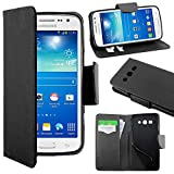 ebestStar - Compatible Coque Samsung Galaxy Core 4G SM-G386F Etui PU Cuir Housse Portefeuille Porte-Cartes Support Stand, Noir [Appareil: 132.9 x 66.3 x 9.8mm, 4.5'']