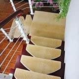 XIANWEI Treppe Anti-Skid-Teppichboden, brauner Teppichtreppe Schritt Treppen-Teppich Anti-Skid-Gummi-Träger (65cm x 24cm) (Color : 10psc, Size : 75 * 24cm)