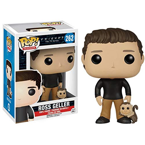 Funko Pop Television : Friends - Ross Geller with Marcel 3.9inch Vinyl Gift for Boys Comedy Television Fans Chibi