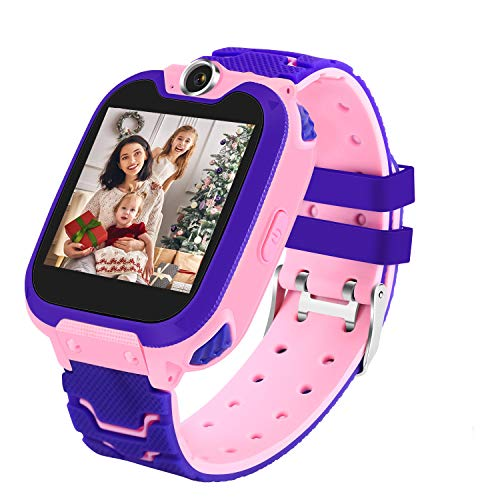 Smart Watch for Kids (4 Colors),Age 3-12 Years Boys Girls with 7 Puzzle Games Music Camera Two-Way Call SOS ,Touch Screen for Children Birthday New Year Gift