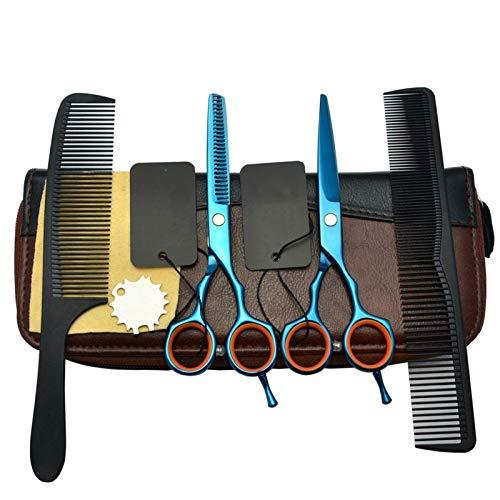 PA Ciseaux Coiffure, 5,5 Pouces Bleu Acier Inoxydable Ciseaux de Cheveux Ciseaux Polyvalents pour Salon/Famille Ciseaux de Coiffure Trousse