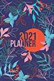 2021: Weekly Planner Week To View | 6 x 9 Dated Agenda | Monday Start Appointment Calendar | Organizer Book | Soft-Cover Floral