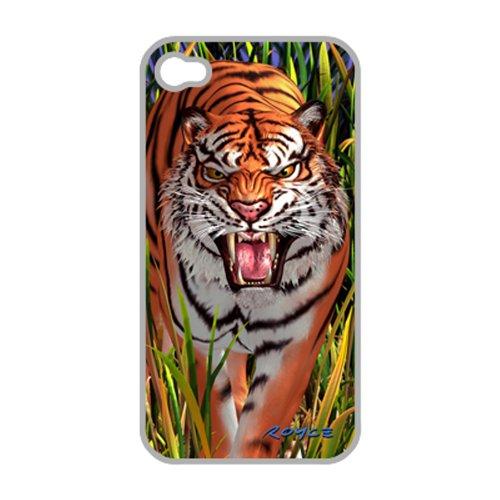 HandyNow 3D Schutzhülle für iPhone 4/4S Tiger mit Displayschutzfolie