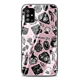Girly Pastel Witch Goth Tempered Glass Phone Case Cover for Samsung Galaxy A10 A20 A30 A40 A50 A70 A51 A71 A81 Note 8 9 10Lite 10Plus (G7,for Samsung A51)