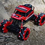 Lihgfw Remote for Bambini di Controllo Deformed Auto Fuoristrada Auto Giocattolo Boy Regalo di Natale Arrampicata Corsa Toy Car Migliore Regalo di Compleanno di Ricarica (Color : Rosso)