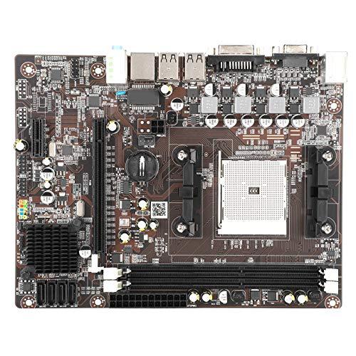 FECAMOS Placa Base para PC de Escritorio, Tarjeta de Redes Gigabit RTL8111F, Placa Base DDR3 para AMD A55, LGA 1155, DDR3 1600/1333/1066 MHz