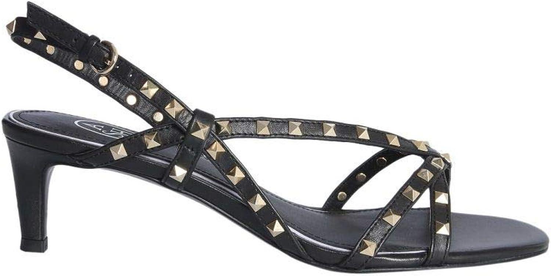 Ash Women's KITTYSOFTBRASILBLACK Black Leather Sandals