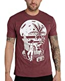 INTO THE AM Back to Earth Men's Graphic Tee Short Sleeve Cool Novelty Design Crewneck Graphic T-Shirt for Men (Maroon, Large)
