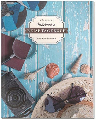 DÉKOKIND Reisetagebuch: DIN A4, 100+ Seiten, Register, Vintage Softcover | Auch als Abschiedsgeschenk | Motiv: Packliste